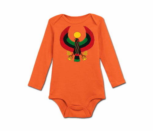 Infant Tangerine Heru Long Sleeve Onesie