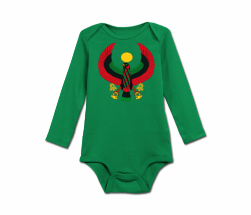 Infant Kelly Green Heru Long Sleeve Onesie