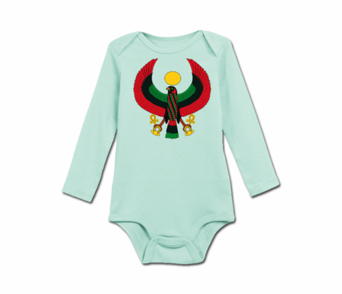 Infant Mint Green Heru Long Sleeve Onesie