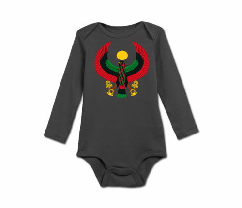 Infant Slate Grey Heru Long Sleeve Onesie