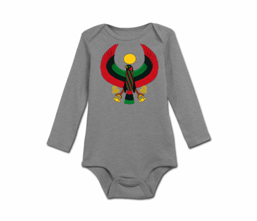 Infant Heather Grey Heru Long Sleeve Onesie