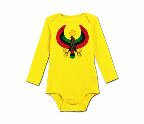 Infant Yellow Heru Long Sleeve Onesie