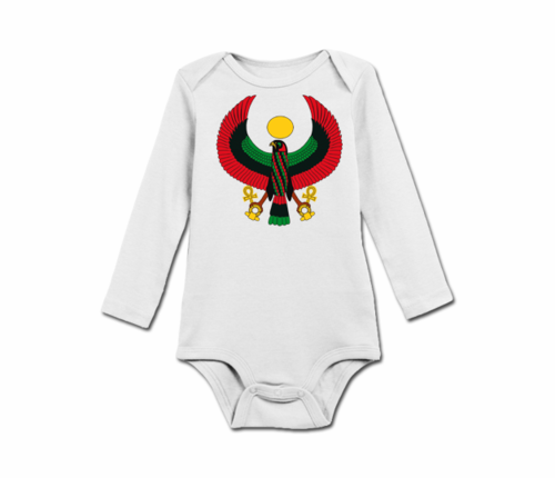Infant White Heru Long Sleeve Onesie