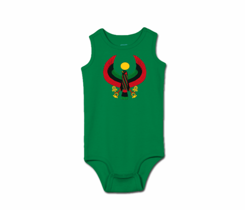 Toddler Kelly Green Heru Tank Onesie