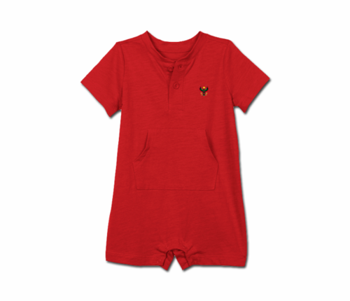Toddler Red Heru short sleeve romper