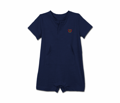 Toddler Navy Blue Heru Short Sleeve Romper