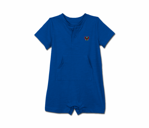 Toddler Royal Blue Heru Short Sleeve Romper