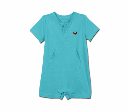 Toddler Pool Blue Heru Short Sleeve Romper