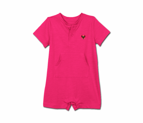 Toddler Raspberry Heru Short Sleeve Romper