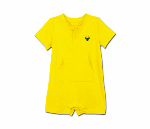Toddler Yellow Heru Short Sleeve Romper