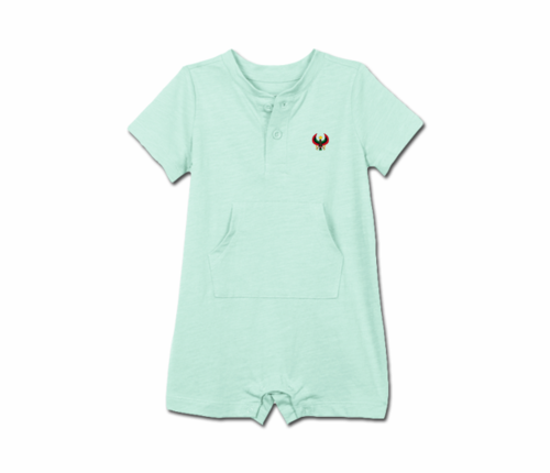Toddler Mint Heru Short Sleeve Romper