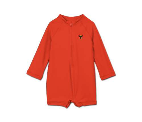 Toddler Tomato Red Heru One Piece Rash Guard