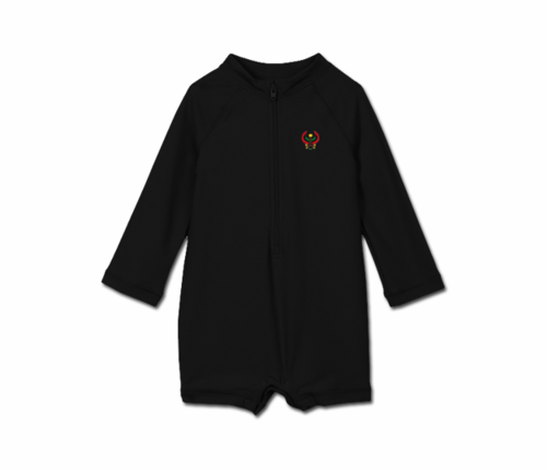 Toddler Black Heru One Piece Rash Guard