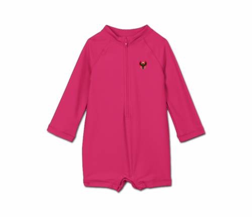 Toddler Raspberry Heru One Piece Rash Guard