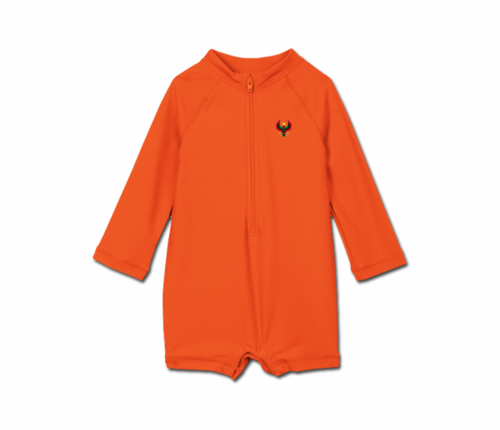 Toddler Tangerine Orange Heru One Piece Rash Guard