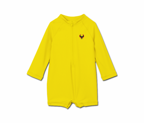 Toddler Yellow Heru One Piece Rash Guard