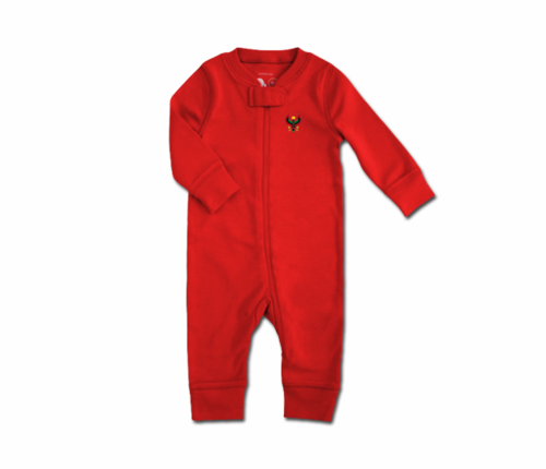 Toddler Red Heru Zip Romper