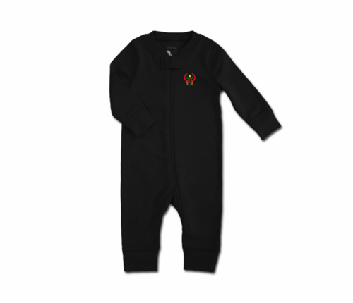Toddler Black Heru Zip Romper