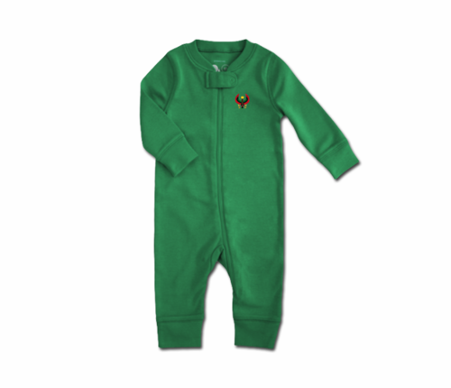Toddler Kelly Green Heru Zip Romper