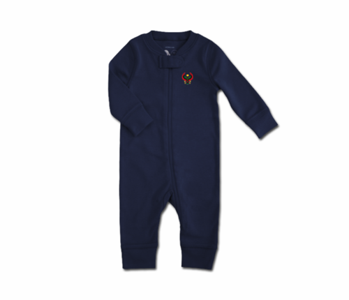 Toddler Navy Blue Heru Zip Romper