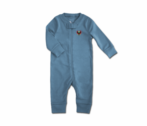 Toddler Slate Blue Heru Zip Romper