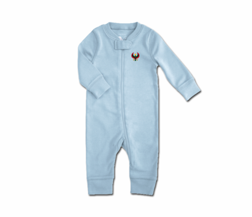 Toddler Baby Blue Heru Zip Romper