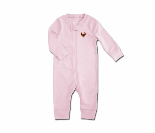 Toddler Pink Heru Zip Romper