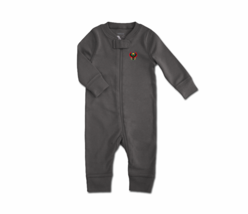 Toddler Slate Grey Heru Zip Romper