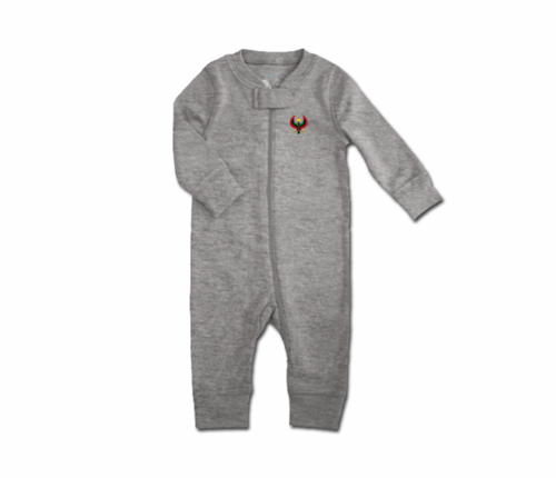 Toddler Heather Grey Heru Zip Romper