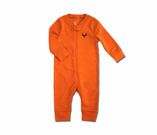 Toddler Tangerine Orange Heru Zip Romper