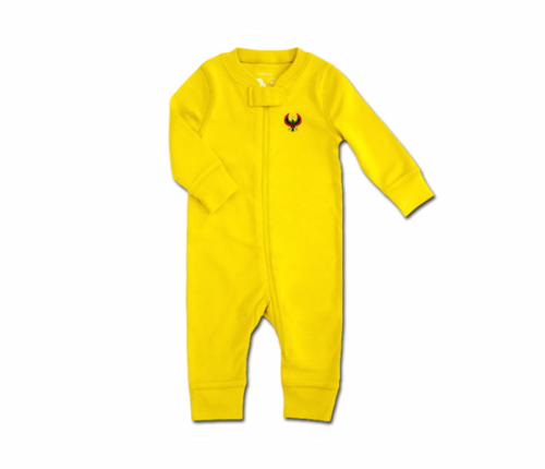 Toddler Yellow Heru Zip Romper