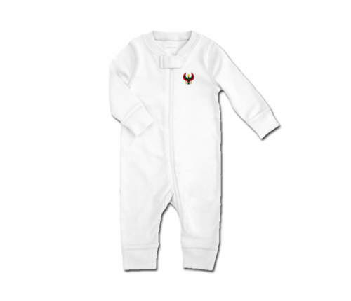 Toddler White Heru Zip Romper