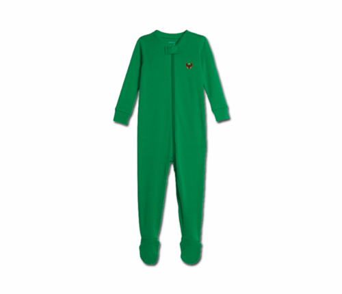 Toddler Kelly Green Heru Zip Footie