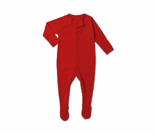 Toddler Red Heru Snap Footie