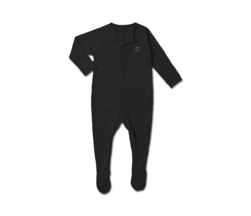 Toddler Black Heru Snap Footie