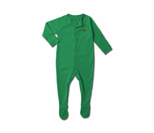 Toddler Kelly Green Heru Snap Footie