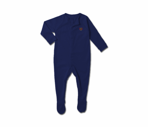 Toddler Navy Blue Heru Snap Footie