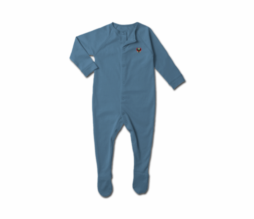 Toddler Slate Blue Heru Snap Footie