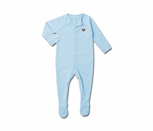 Toddler Baby Blue Heru Snap Footie