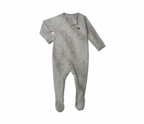 Toddler Heather Grey Heru Snap Footie