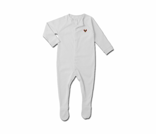 Toddler White Heru Snap Footie