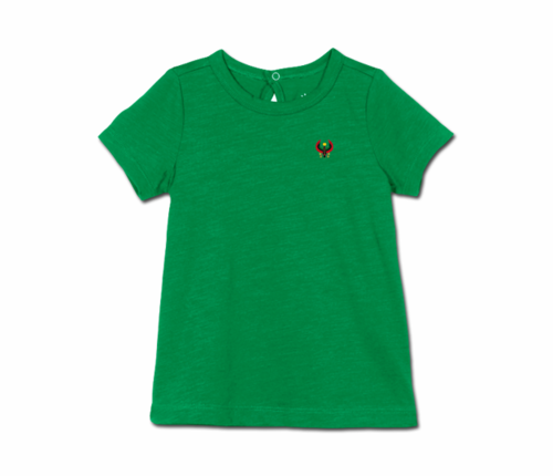 Toddler Kelly Green Heru Short Sleeve Tunic