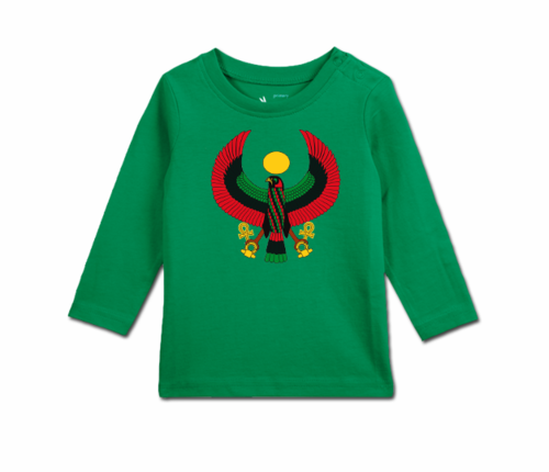 Toddler Kelly Green Heru Long Sleeve T-Shirt