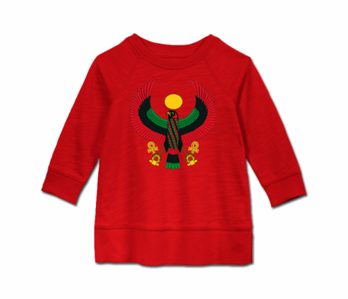 Toddler Red Heru Long Sleeve Tunic