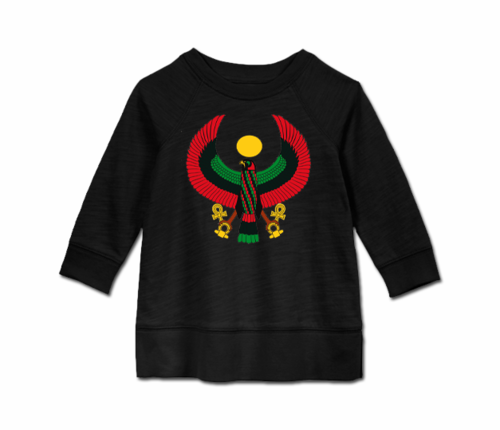 Toddler Black Heru Long Sleeve Tunic