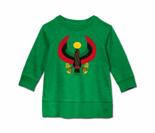 Toddler Kelly Green Heru Long Sleeve Tunic