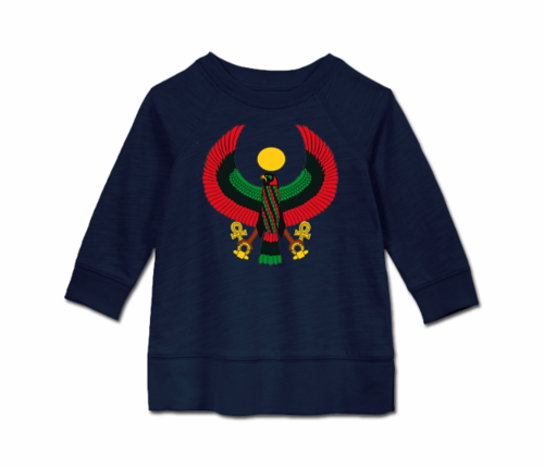 Toddler Navy Blue Heru Long Sleeve Tunic