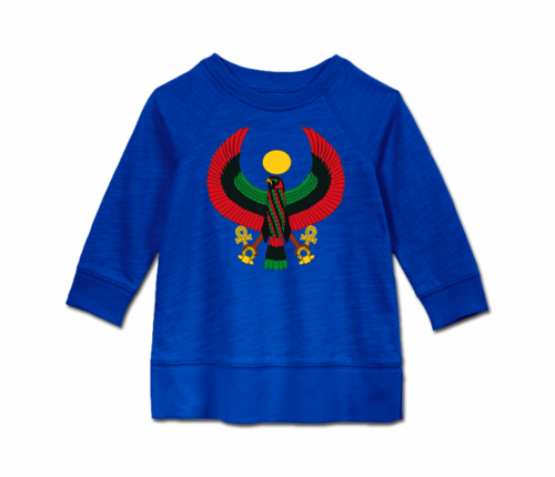 Toddler Royal Blue Heru Long Sleeve Tunic