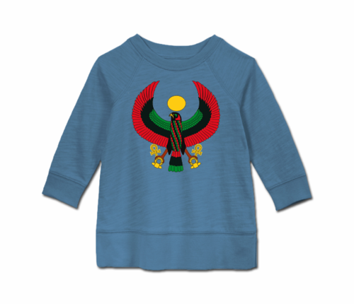 Toddler Slate Blue Heru Long Sleeve Tunic