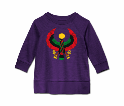 Toddler Purple Heru Long Sleeve Tunic